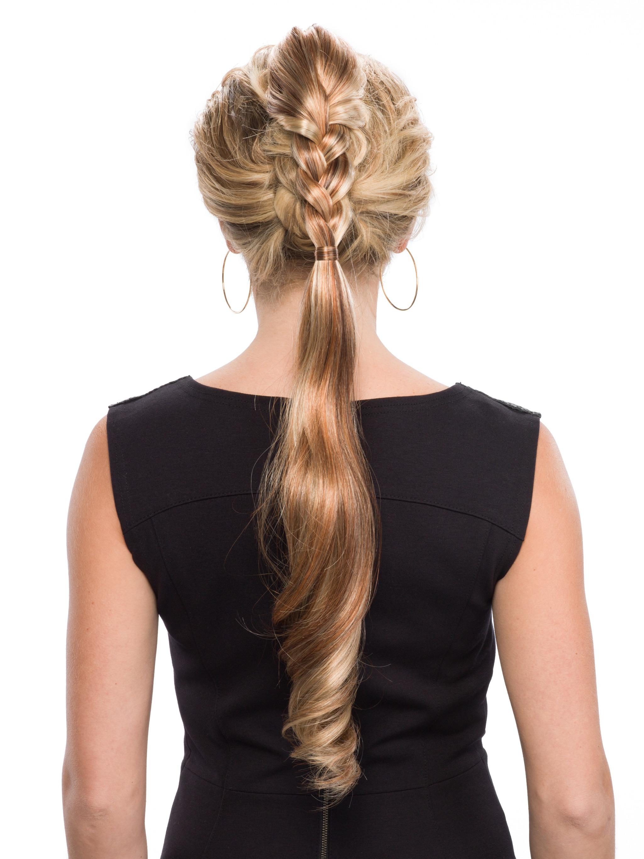 187 Dutch Braid Hairpiece